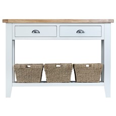 St Ives Large Console Table - White