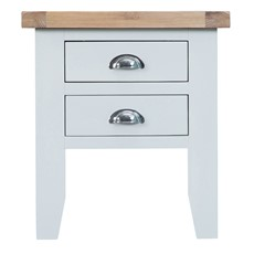 St Ives Lamp Table - White