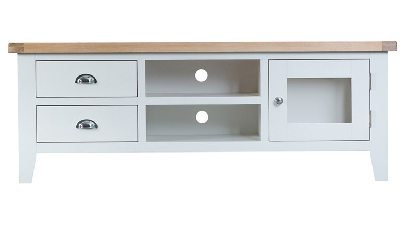 St Ives Large TV Unit - White