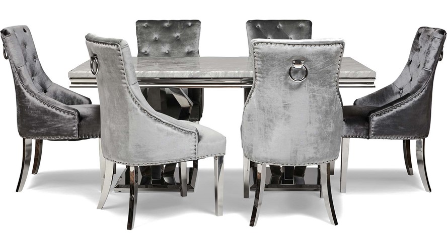 Valentina Dining Table & 4 Scarlett Chairs