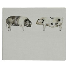 Voyage Grace Kissing Pigs Headboard