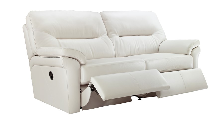 Leather 3 Seater Recliner Sofa Double