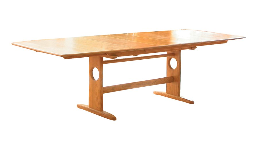 Ercol Windsor Large Extending Pedestal Table