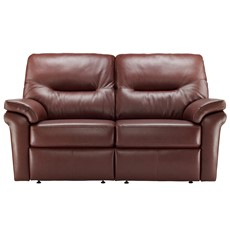 G Plan Washington Leather 2 Seater Sofa