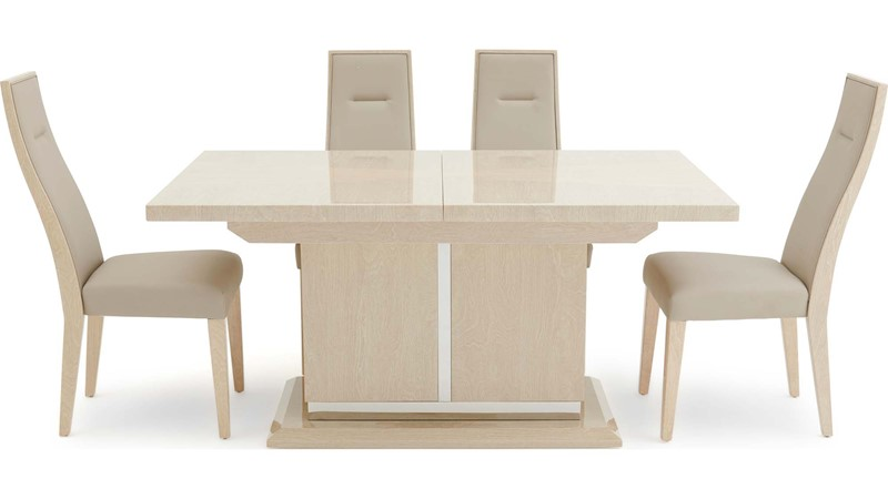 Zanzibar Extending Dining Table & 4 Chairs